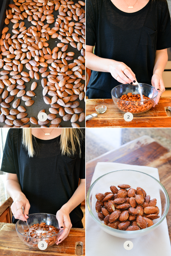 How to make lavender roasted almonds.