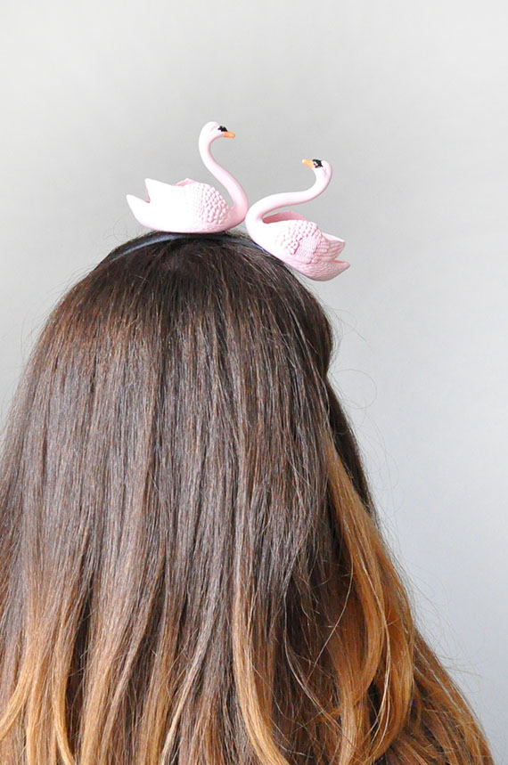 DIY Swan Headbands