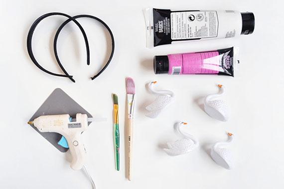 DIY Swan Headbands