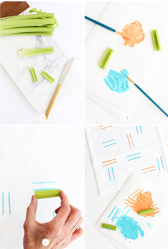 DIY Hand-Stamped Spring Napkins   alice & lois for minted