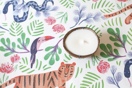 rebecca turner jungle fun print table linen for jungle baby shower