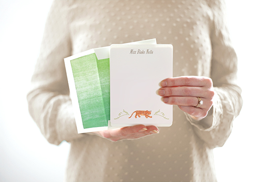 baby tiger stationery by rebecca turner for minted