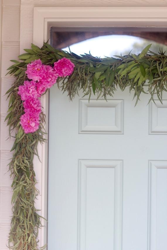 fresh floral garland