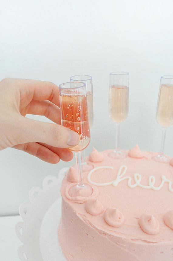 Champagne Flute Cake