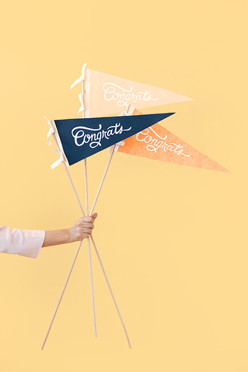 DIY Graduation Pennants