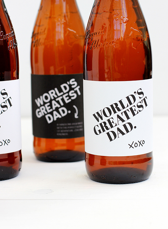 free printable father s day beer bottle label julep