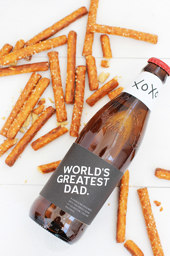Free Printable Father's Day Beer Bottle Label