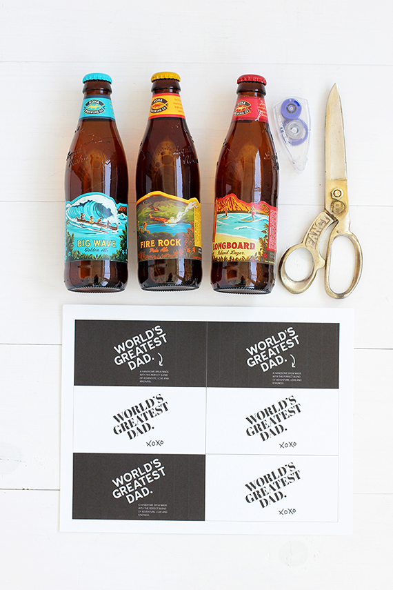 printable father s day beer labels julep