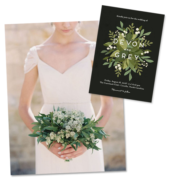 Modern Greenery Bridal Bouquet