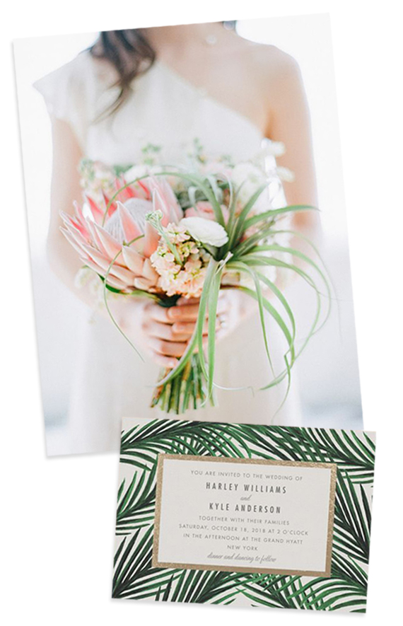 Tropical Bouquet with Pink Proteas