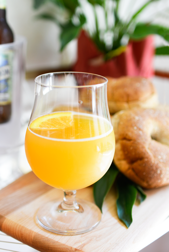 Brunch cocktail idea with beer for Father's Day.