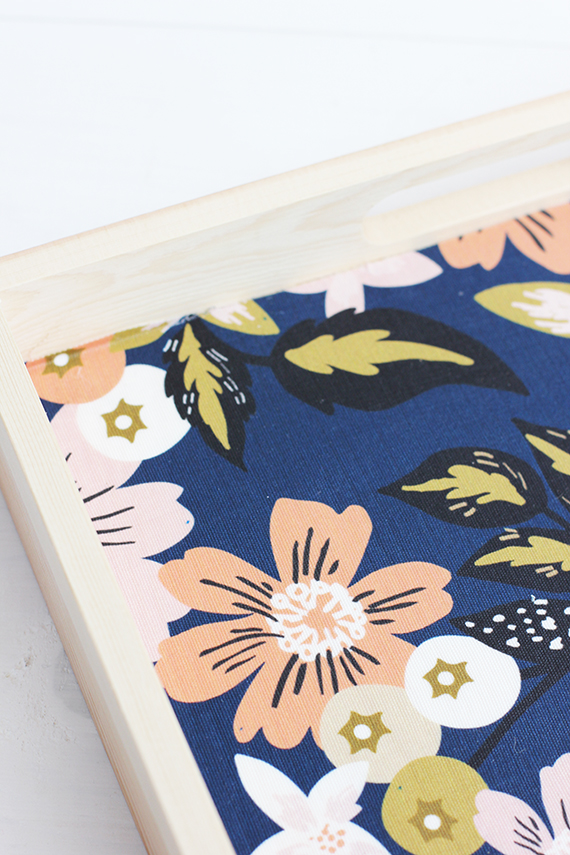 DIY Fabric Lined Wood Tray | alice & lois for minted