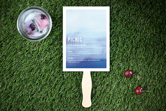 menu hand fan, july fourth table styled for minted by kelli hall