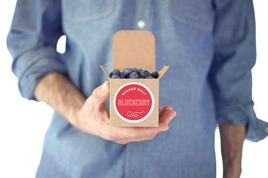 boxed blueberries, july fourth table styled for minted by kelli hall