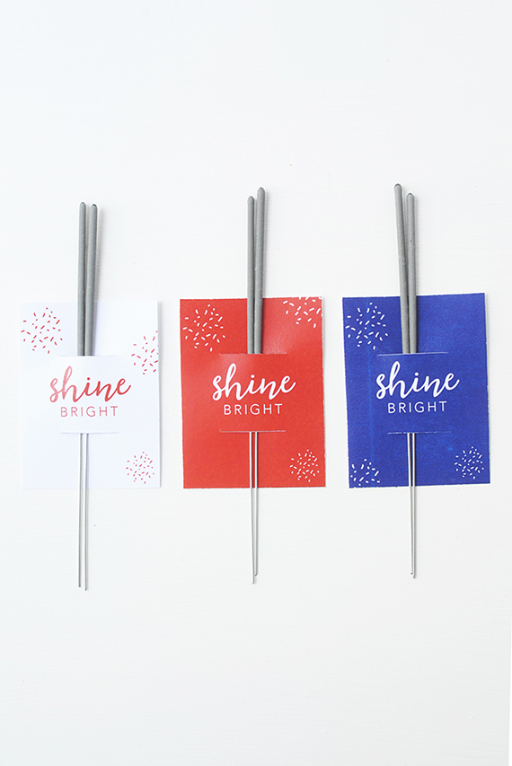 Free Printable 4th of July Sparkler Sleeve