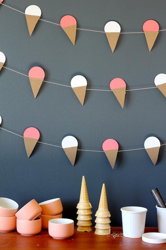 ice cream garland