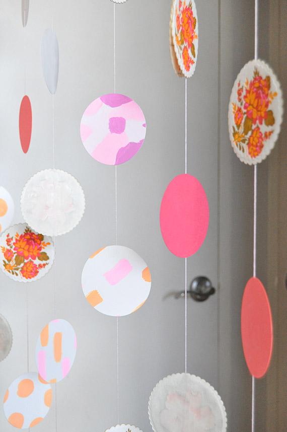 DIY Paper Coaster Garland | Julep