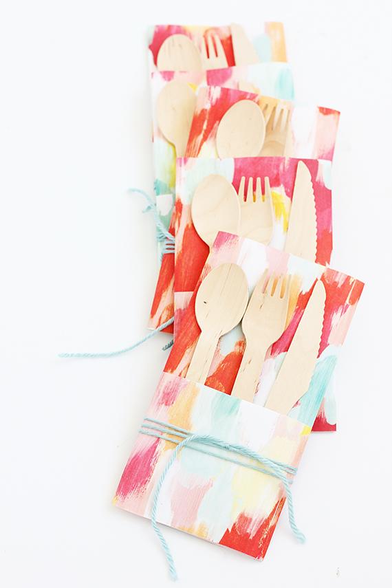 DIY Paper Utensil Envelope | alice & lois for minted