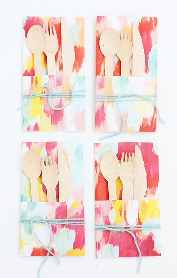 DIY Paper Utensil Envelope | alice & lois for minted