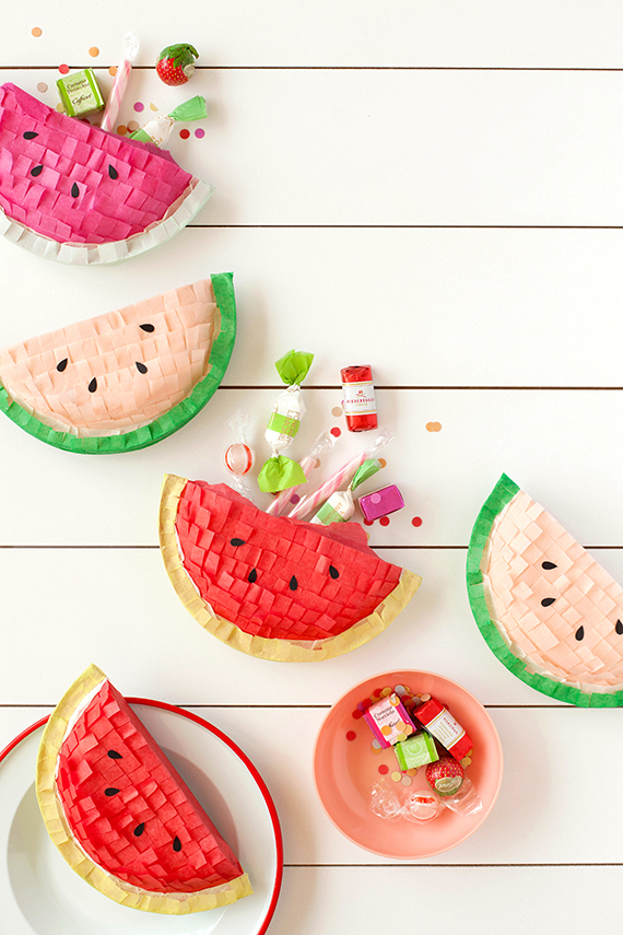 DIY Watermelon Pinatas
