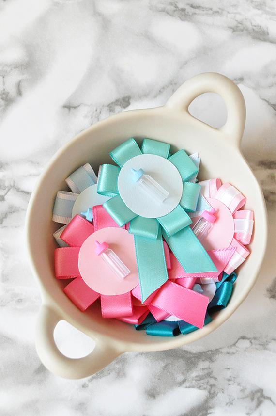 DIY: Gender-Reveal Baby Shower Pins   Julep