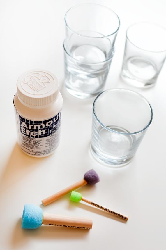 DIY glass etching supplies