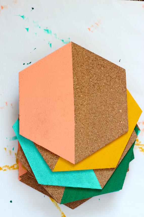 DIY Painted Hexagon Corkboard Julep