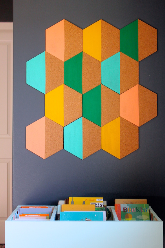 Diy Painted Hexagon Corkboard Julep