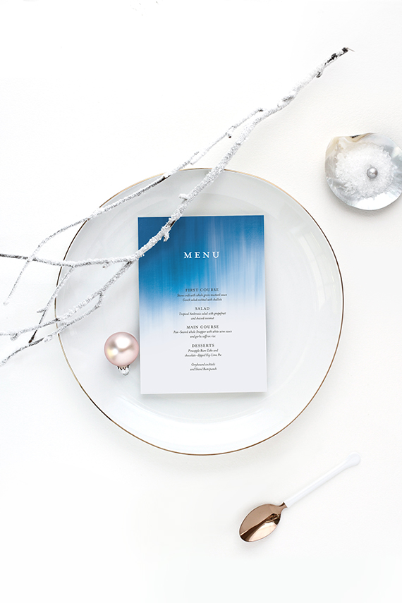 ocean-inspired holiday table for minted by kelli hall