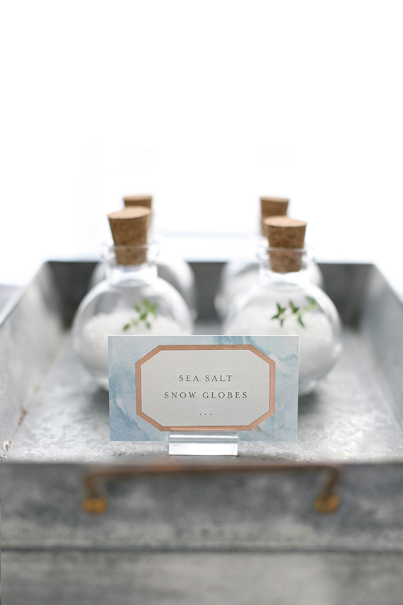 sea salt snowglobes: ocean-inspired holiday favors for minted by kelli hall