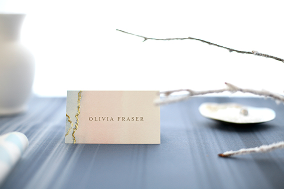 ocean-inspired holiday place cards