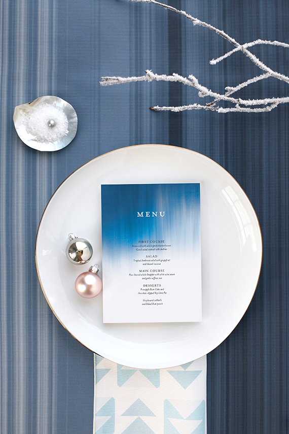 ocean inspired holiday place setting for minted by kelli hall