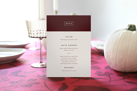 thanksgiving menu by stacey meacham styled by kelli hall