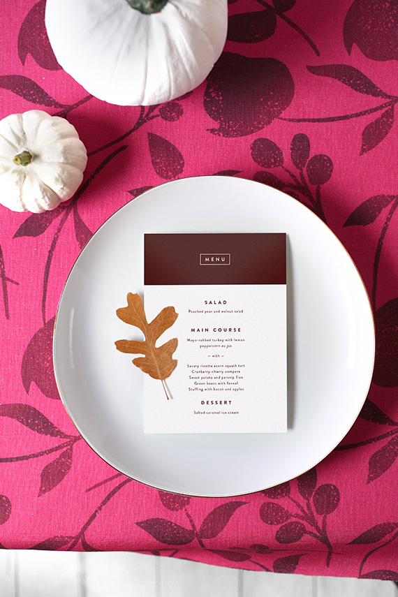 thanksgiving tabletop for minted by kelli hall