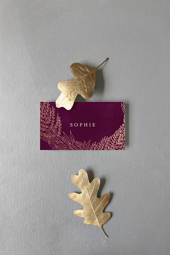 thanksgiving place card by phrosne ras styled by kelli hall