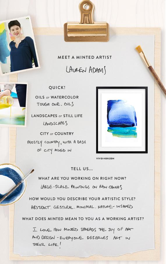 Meet a Minted Artist Lauren Adams