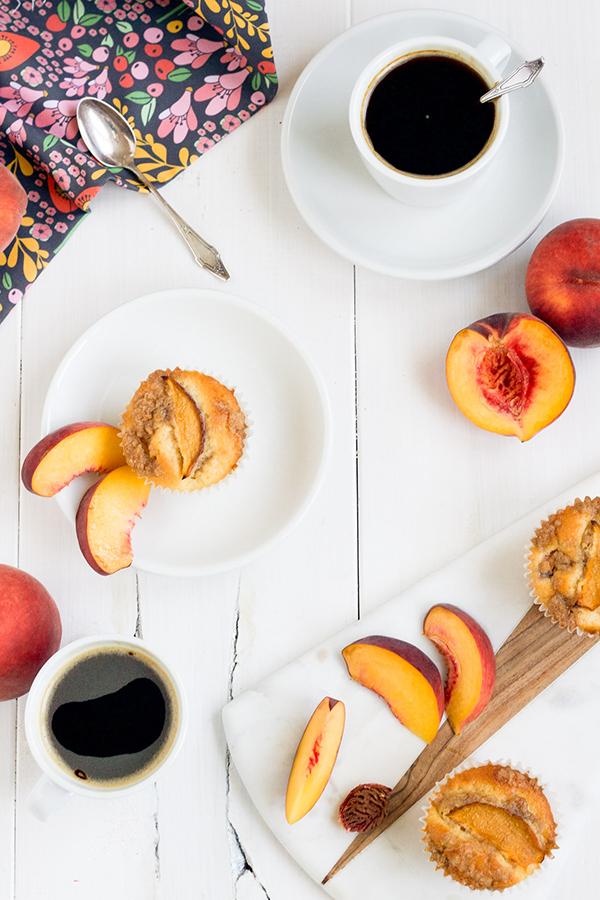 Recipe: Peach Crumb Muffins