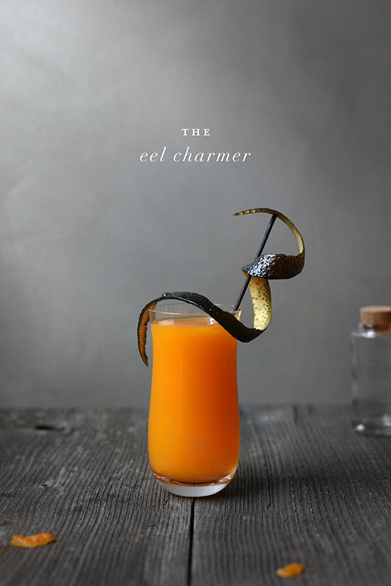 eel charmer frankenstien-inspired halloween cocktail by kelli hall