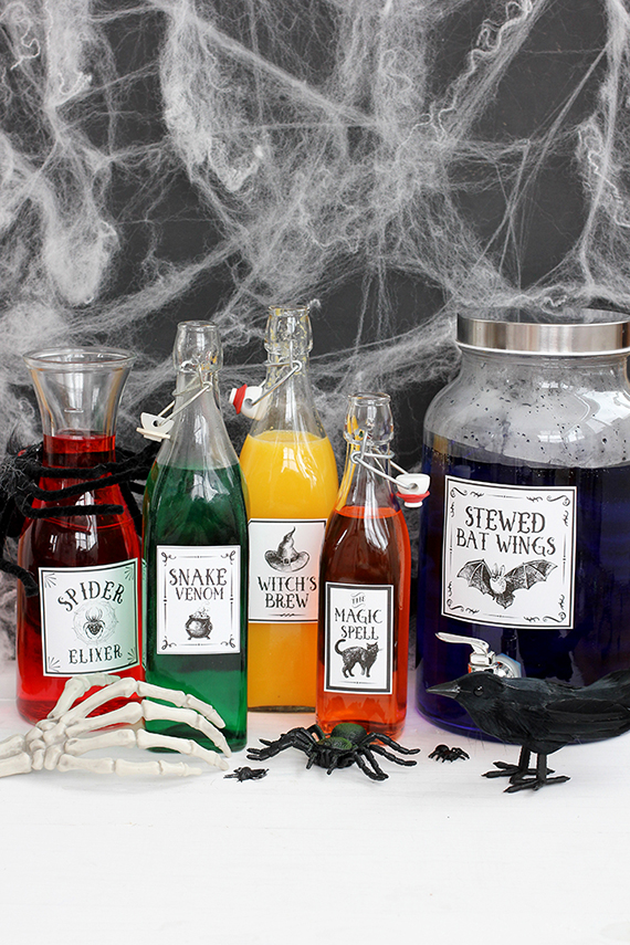 Free Printable: Halloween Potions Drink Labels | Julep