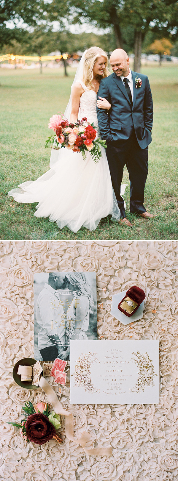 Minted Real Wedding at The Grove in Aubrey, Texas