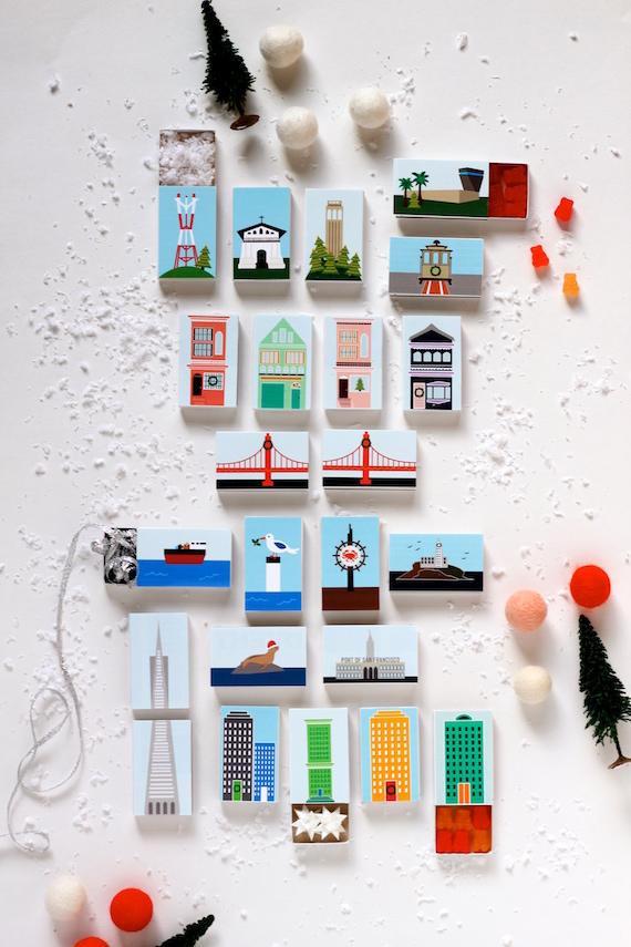 Printable San Francisco Advent Calendar Julep