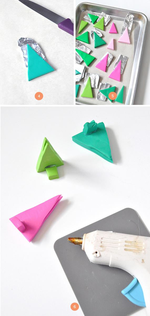 DIY Clay Trees Christmas Card Display