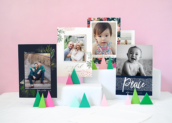 Christmas Card Display Ideas: Bright Clay Trees
