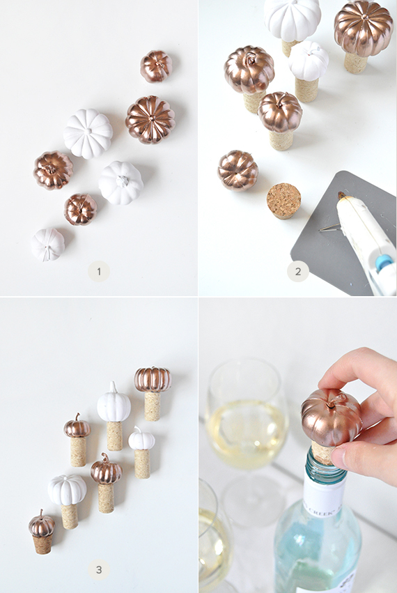 DIY Pumpkin Wine Bottle Stoppers