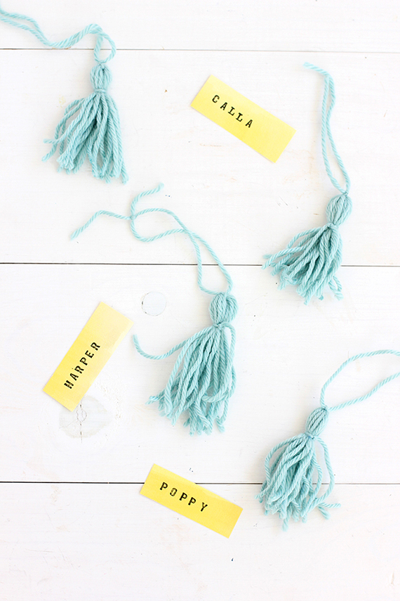 DIY Simple Tassel Napkin Ring