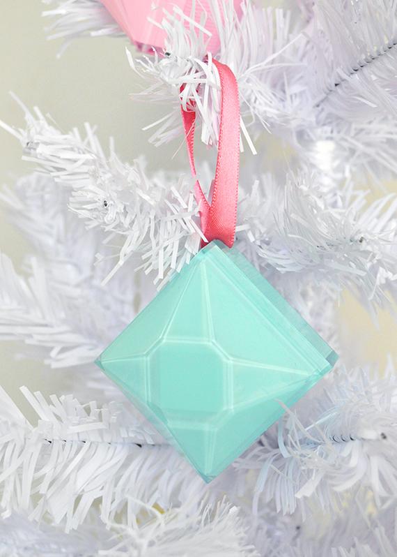 DIY Gem Christmas Ornaments | Julep
