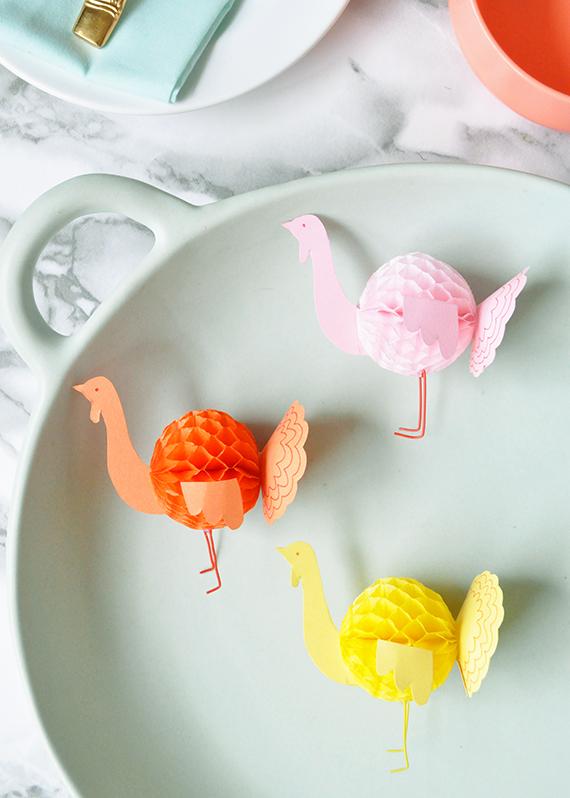 DIY Mini Honeycomb Turkeys | Julep