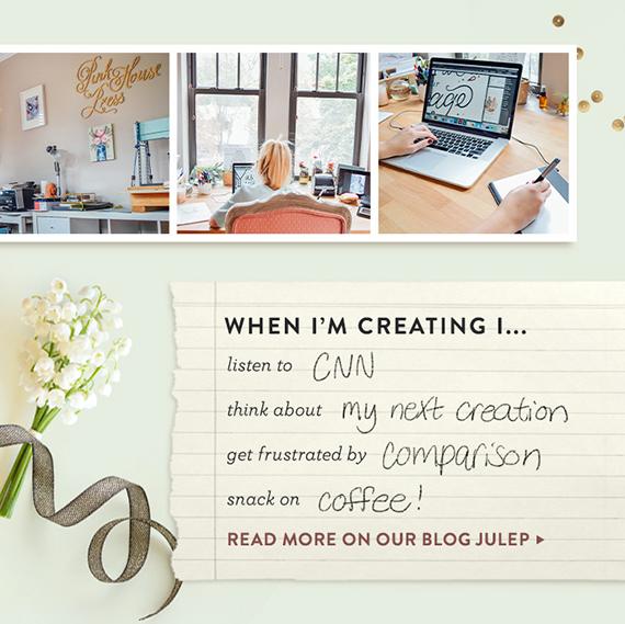 hand-lettered wedding invitation
