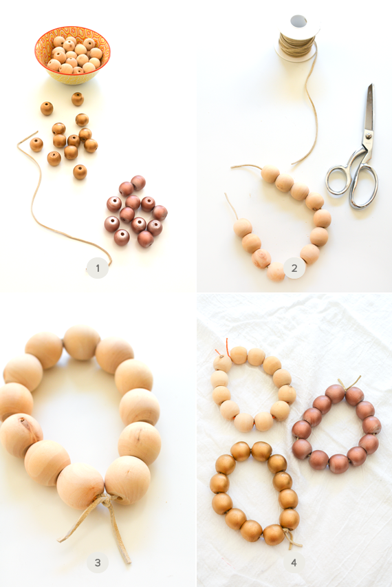 How to make DIY wooden bead trivets for your Thanksgiving meal.
