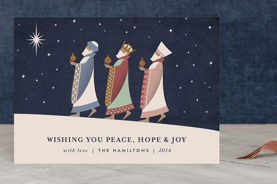 10 holiday cards and christmas cards that inspire hope julep the magi holiday card by kampai designs of sydney australia m4hsunfo